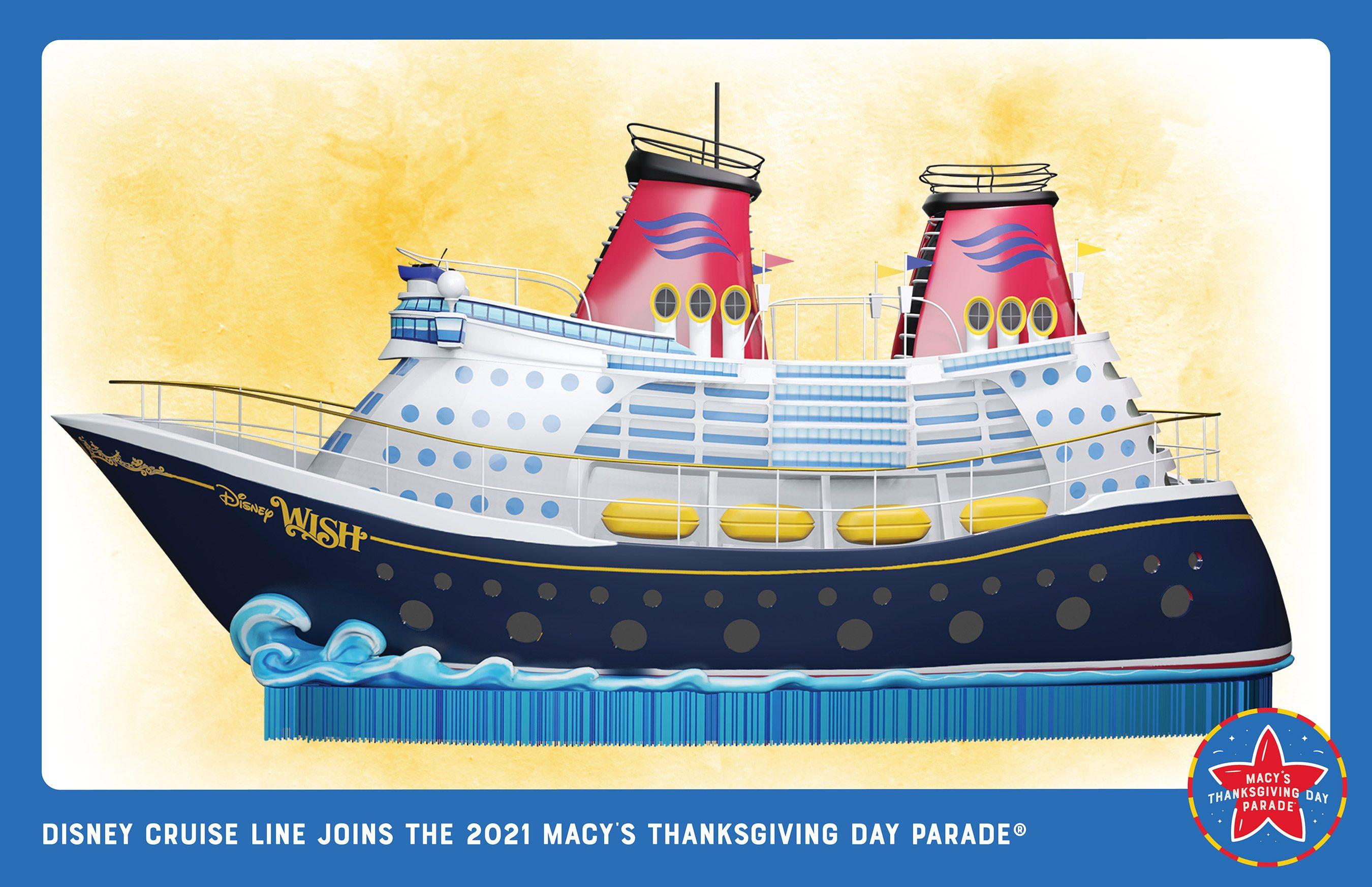 Disney Wish fará parte do desfile do Dia de Ação de Graças em Nova Iorque